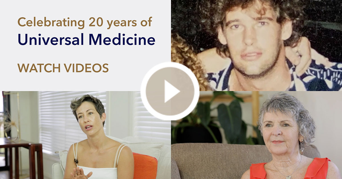 Celebrating 20 years of Universal Medicine Video Series