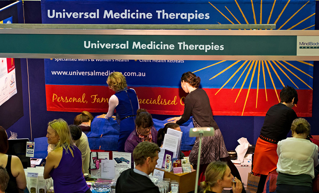 Universal Medicine Trained Practitioners at the Mind, Body, Spirit Festival
